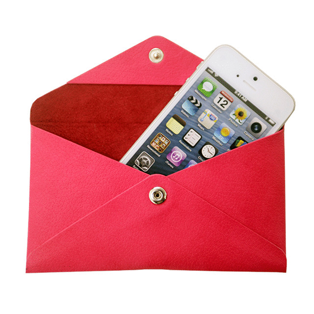 【iPhoneSE/5s/5 ケース】Envelope Case (ピンク)