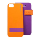 【iPhoneSE/5s/5 ケース】Smart Folder Case Sider Belt: Purple/Orange