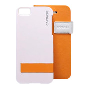 【iPhoneSE/5s/5 ケース】Smart Folder Case Sider Belt: Orange/White