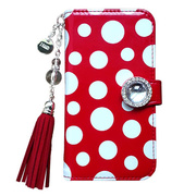 【iPhone5s/5 ケース】Amante Bubble ダイアリーケース (Red)