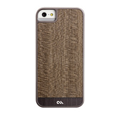 【iPhoneSE/5s/5 ケース】Crafted Woods Case Wood (Grey Leopard)