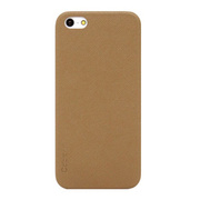【iPhoneSE(第1世代)/5s/5 ケース】Thin Leather Shell (Tan)