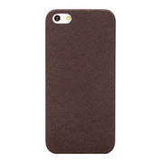 【iPhoneSE(第1世代)/5s/5 ケース】Thin Leather Shell (Dark Brown)