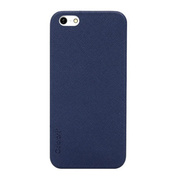 【iPhoneSE(第1世代)/5s/5 ケース】Thin Leather Shell (Blue)