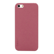 【iPhoneSE(第1世代)/5s/5 ケース】Thin Leather Shell (Pink)
