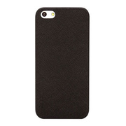 【iPhoneSE(第1世代)/5s/5 ケース】Thin Leather Shell (Black)