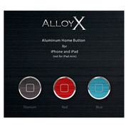 Alloy X Home Button Set for iPhone/iPad - Colors - Blue×Titanium×Red