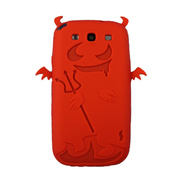【GALAXY S3 ケース】Satan Silicone Case, Red
