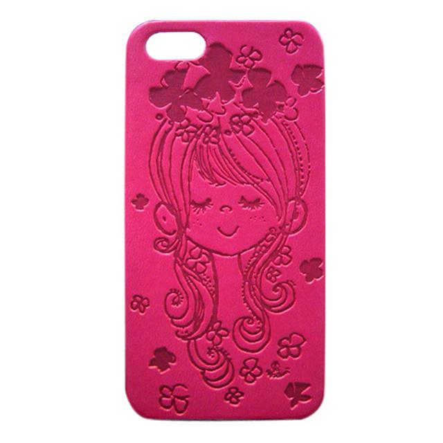 【iPhone5s/5 ケース】水森亜土 イタリアンPU(フラワー/HPK)