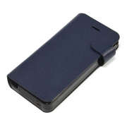 【iPhone5s/5 ケース】Leather Battery Case (ネイビーブルー)