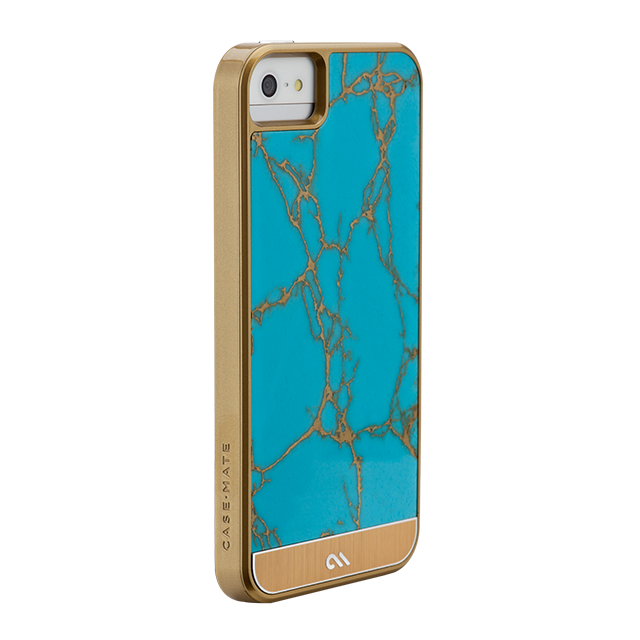 【iPhoneSE(第1世代)/5s/5 ケース】Crafted Case Gemstone,Turquoise (Turquoise/Gold)サブ画像