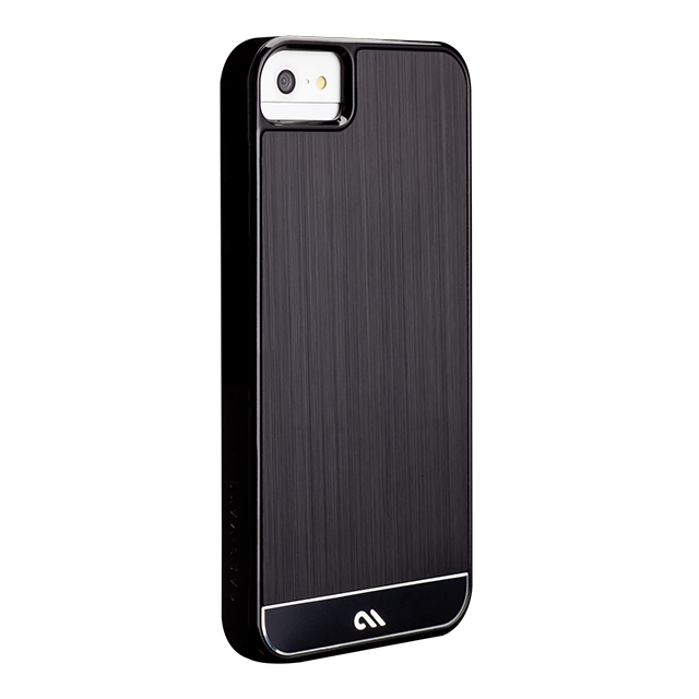 【iPhoneSE(第1世代)/5s/5 ケース】Crafted Case Brushed Alminum, Black / Blackサブ画像