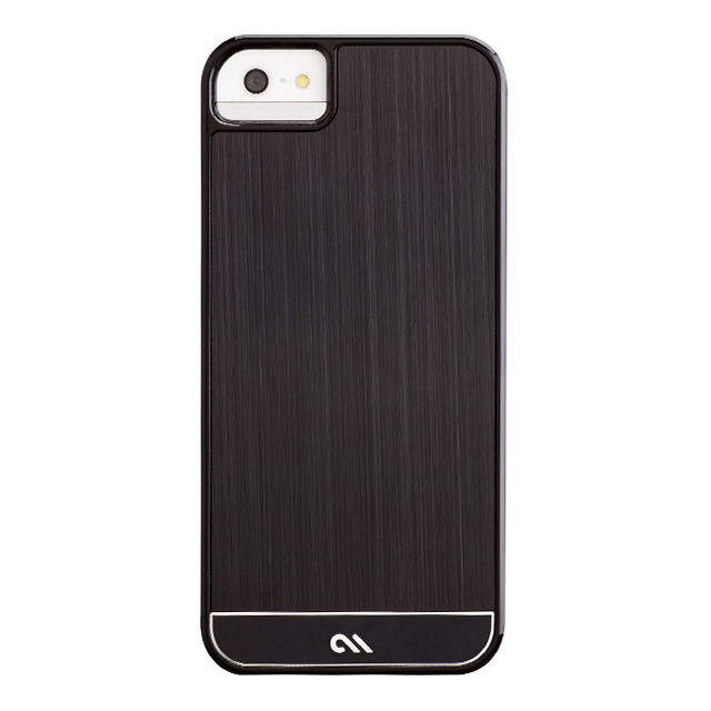【iPhoneSE(第1世代)/5s/5 ケース】Crafted Case Brushed Alminum, Black / Black