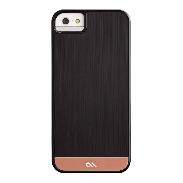 【iPhoneSE(第1世代)/5s/5 ケース】Crafted Case Brushed Alminum, Black/Rose Gold
