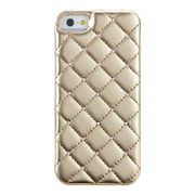 【iPhoneSE(第1世代)/5s/5 ケース】Madison Quilted Case with Genuine SWAROVSKI Crystal Elements, Gold