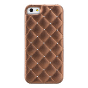 【iPhoneSE/5s/5 ケース】Madison Quilted Case with Genuine SWAROVSKI Crystal Elements, Bronze