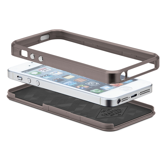 【iPhoneSE/5s/5 ケース】Crafted Case Brushed Alminum, Gunmetal / Blackサブ画像