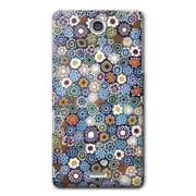 【XPERIA A ケース】CollaBorn Floral patterns05A