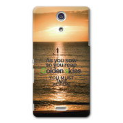【XPERIA A ケース】CollaBorn Sunset paddle