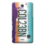 【XPERIA A ケース】CollaBorn Numberplate[Arizona]