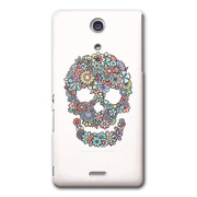 【XPERIA A ケース】CollaBorn Flowers Skull