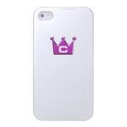 【iPhone4S/4 ケース】CASECROWN BLACK Corset (WH-PU)