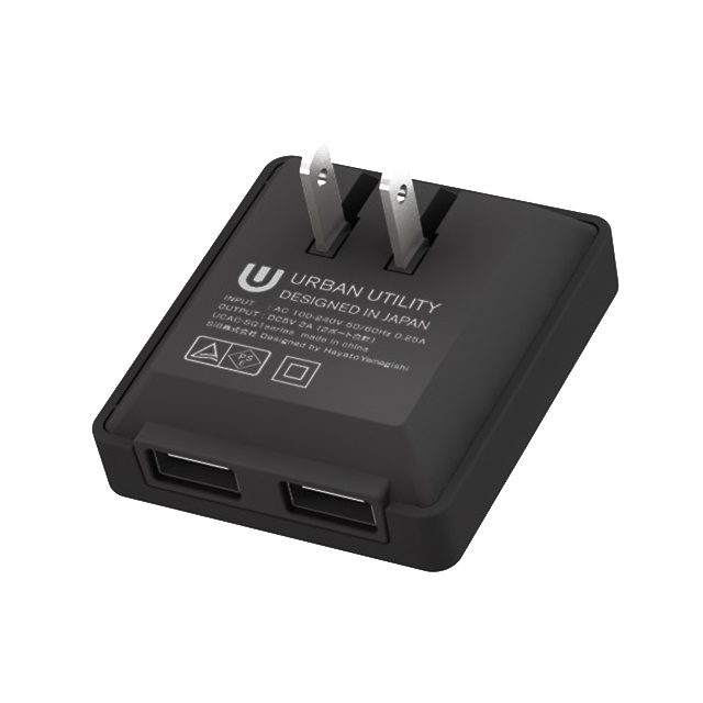 SQUARE USB AC Adaptor マットブラック