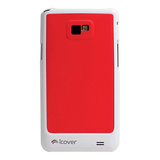 【GALAXY S2 ケース】icover DUESシリーズ レッド