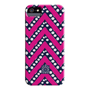 【iPhoneSE(第1世代)/5s/5 ケース】DESIGNER PRINTS Barely There Case, IOMOI Chevron Pop