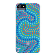 【iPhoneSE(第1世代)/5s/5 ケース】DESIGNER PRINTS Barely There Case, Lou Kregel Electric Swirl (Aqua)