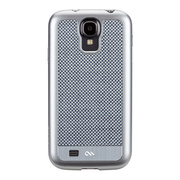 【GALAXY S4 ケース】Crafted Case CARBON FIBER, Silver