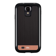 【GALAXY S4 ケース】Crafted Case BRUSHED ALMINUM, Black/Rosegold