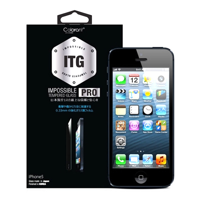 【iPhoneSE(第1世代)/5s/5c/5 フィルム】ITG PRO - Impossible Tempered Glass