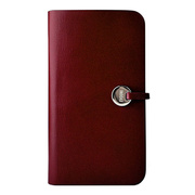 【GALAXY S4 ケース】Leather Arc Wallet Claret