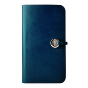 【GALAXY S4 ケース】Leather Arc Wallet Blue
