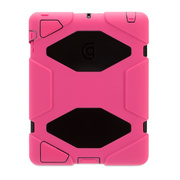 【iPad(第3世代/第4世代) iPad2 ケース】Survivor for iPad 2-Pink Black Black GB35379