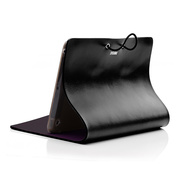 【iPad mini(初代) ケース】Leather Arc Cover Black