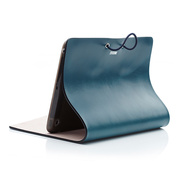 【iPad mini(初代) ケース】Leather Arc Cover Blue