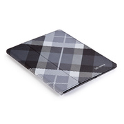 【iPad(第3世代/第4世代) iPad2 ケース】gen FitFolio[MegaPlaid Black]