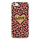 【iPhoneSE/5s/5 ケース】LOVE Leopard ピンク