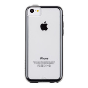【iPhone5c ケース】Hybrid Tough Naked Case, Clear with Black Bumper