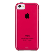 【iPhone5c ケース】Hybrid Tough Naked Case, Shocking Pink with White Bumper