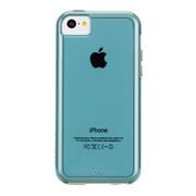 【iPhone5c ケース】Hybrid Tough Naked Case, Aqua with White Bumper