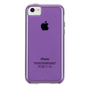 【iPhone5c ケース】Hybrid Tough Naked Case, Violet with White Bumper