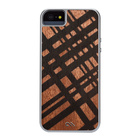 【iPhoneSE/5s/5 ケース】Crafted Woods Case (Carved Mahogany)