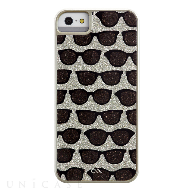【iPhoneSE/5s/5 ケース】Glam Print Sunglasses Champagne