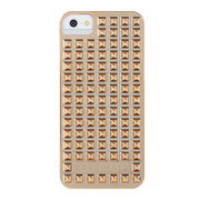 【iPhoneSE(第1世代)/5s/5 ケース】Barely There Studded Gold