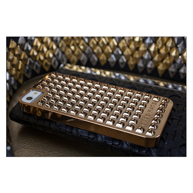 【iPhoneSE/5s/5 ケース】Barely There Studded Silverサブ画像