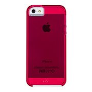【iPhoneSE(第1世代)/5s/5 ケース】Hybrid Tough Naked Case (Shocking Pink/White)