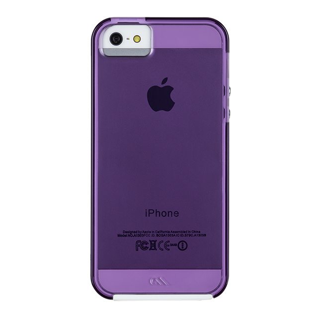 【iPhoneSE(第1世代)/5s/5 ケース】Hybrid Tough Naked Case (Shocking Violet/White)